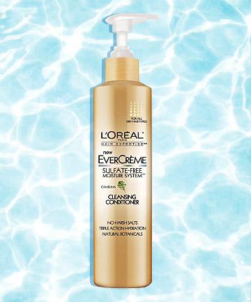 L'Oreal Evercreme Sulfate-Free Moisture System Cleansing Conditioner, mỹ phẩm giá rẻ giúp chăm sóc cho mái tóc khỏe mạnh, giảm gãy rụng