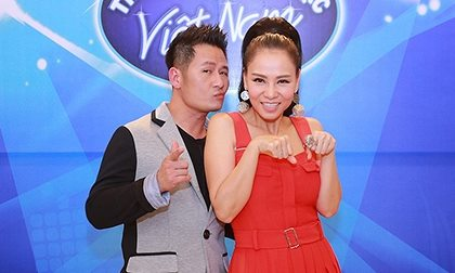 Thu Minh – Bằng Kiều nhí nhảnh trong hậu trường Thần tượng âm nhạc Việt Nam