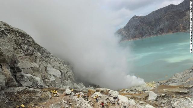 Kawah Ijen (East Java, Indonesia), Đây là ngọn núi lửa nổi tiếng với