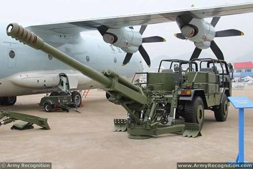 SH-2 và CS/SH1 là biến thể cỡ nhỏ của vũ khí Trung Quốc pháo tự hành SH-1 . Ảnh Army Regconition