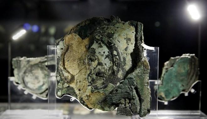 Các mảnh vỡ máy tính được trưng bày trong bảo tàng khảo cổ Athens