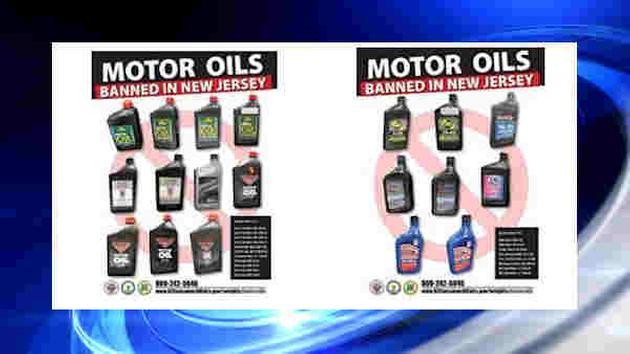 19 loại dầu động cơ kém chất lượng dán nhãn giả bị cấm sử dụng và lưu hành tại New Jersey