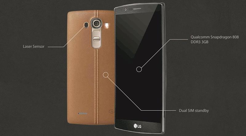 LG G4 vơí bộ vỏ bằng da khác biệt