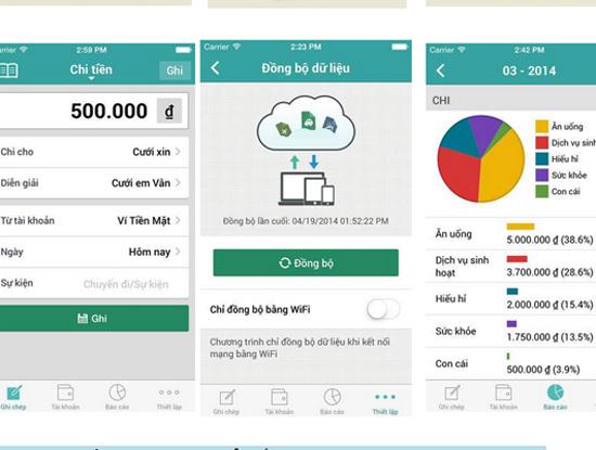 Sổ Thu Chi là 1 ứng dụng hay giúp quản lý chi tiêu