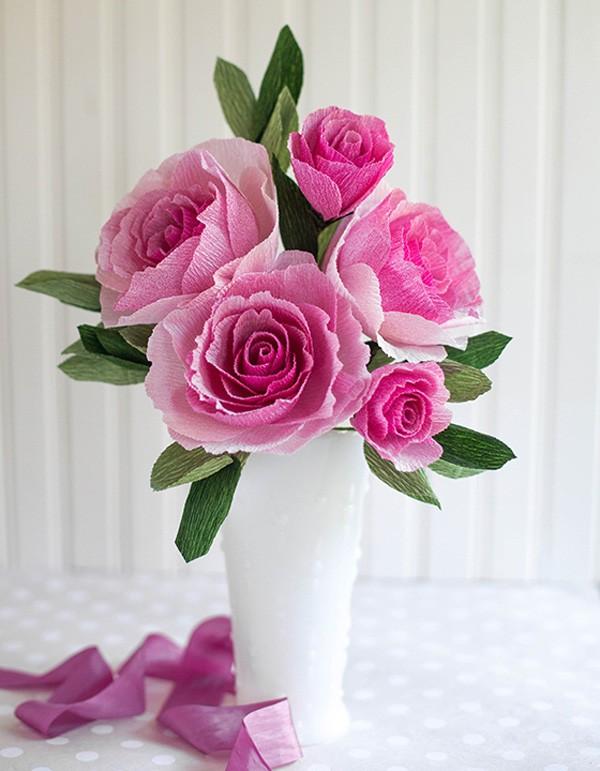 Áp dụng đúng 4 bước trê, mọi người sẽ có lọ hoa đẹp để tranhg trí nhà