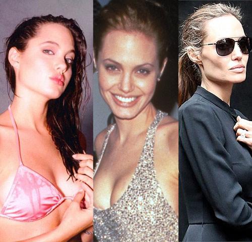 Còn nhớ, Angelina Jolie từng nhiều năm liền đứng vào top mỹ nhân quyến rũ nhất thế giới. Nhưng càng ngày, thân hình của cô càng gầy gò khiến fan xót xa.