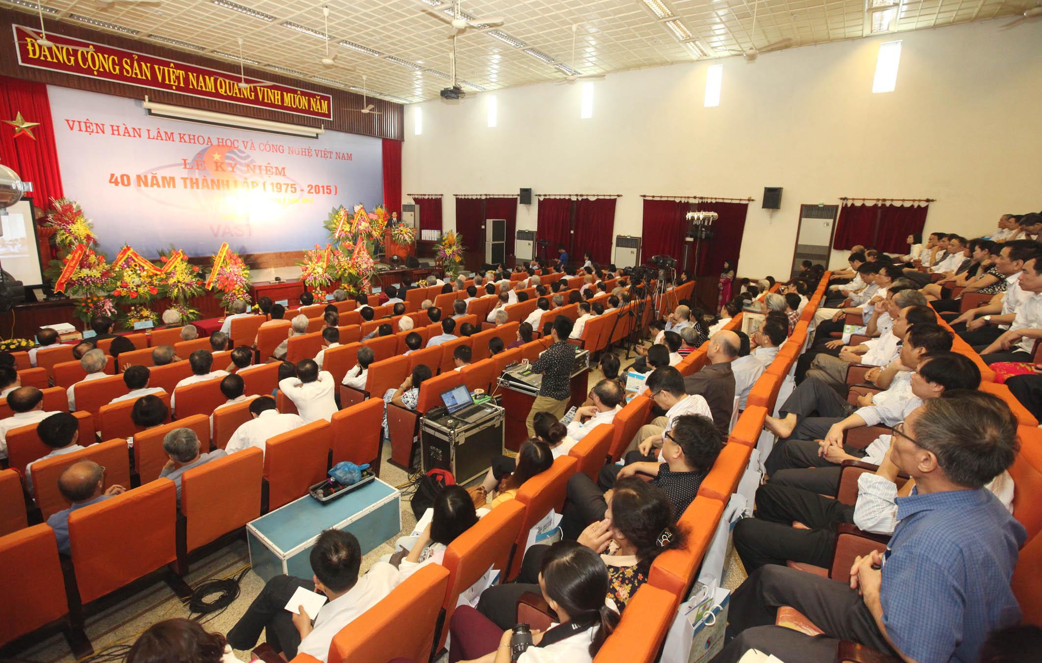 kỷ niệm 40 năm thành lập Viện Hàn lâm KH&CN Việt Nam