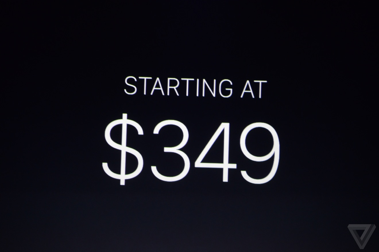 Sản phẩm sẽ có mức giá khởi điểm từ 349 USD và có mặt trên thị trường vào đầu năm sau.