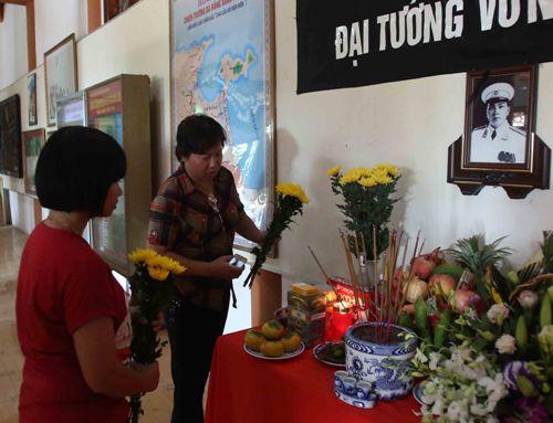 Lap ban tho Dai tuong tai Dien Bien Phu de phuc vu tang le dai tuong Vo Nguyen Giap