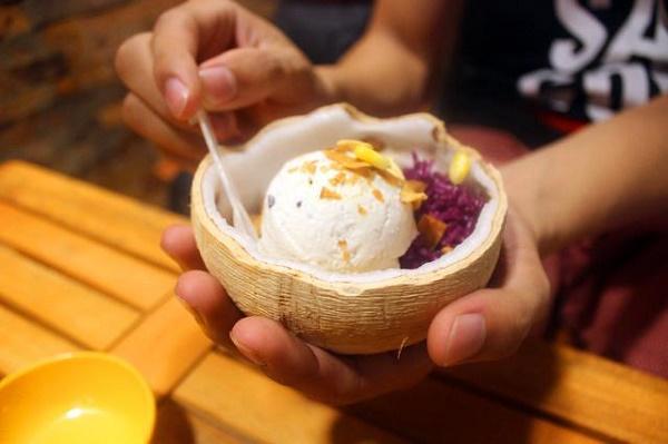 Cách làm kem xôi dừa ngon