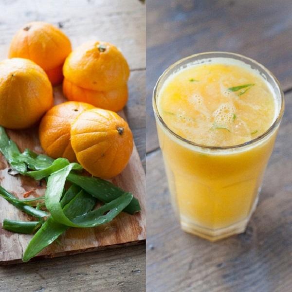 Cách làm sinh tố cam nha đam