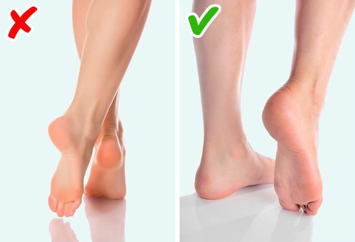Dấu hiệu chân hồng và mỏng hơn bình thường có thể là dấu hiệu của bệnh tiểu đường. Ảnh: brightside