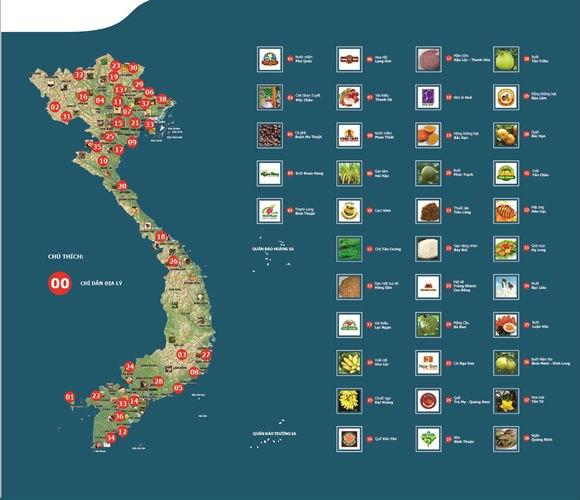 Việt Nam có rất nhiều sản phẩm được bảo hộ chỉ dẫn địa lý. Ảnh: VGP