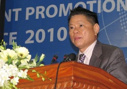 Ông Hoàng Kiều tại Hội nghị xúc tiền đầu tư tỉnh Tiền Giang 2010.
