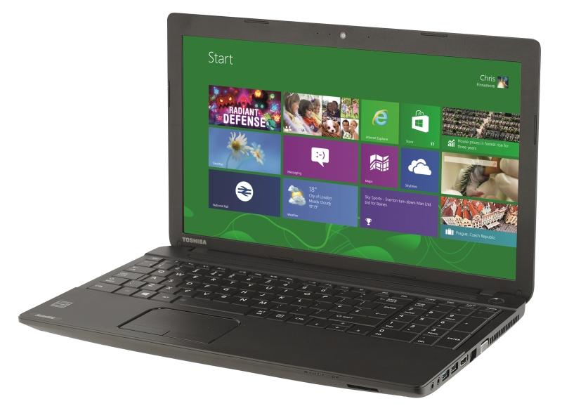 laptop giá rẻ Toshiba sở hữu thiết kế nhỏ gọn, đẹp mắt