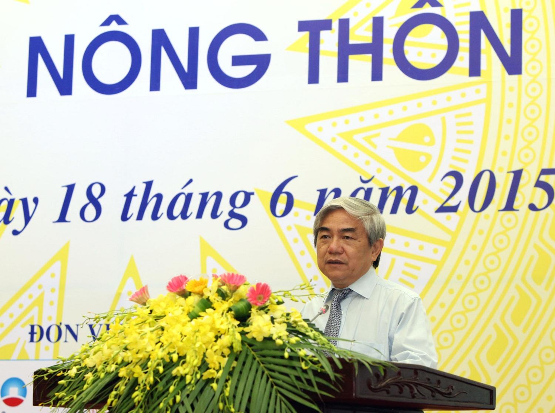 Bộ trưởng Nguyễn Quân phát biểu tại hội nghị