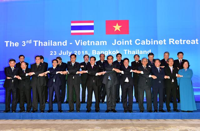 Nội các Việt Nam - Thái Lan chụp ảnh lưu niệm chung