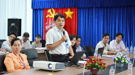 Ông Nguyễn Thành Hiển - Chi cục trưởng Chi cục Tiêu chuẩn Đo lường Chất lượng phát biểu khai mạc hội thảo