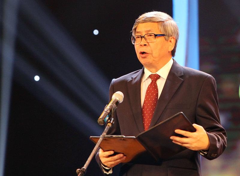 GS. Đặng Vũ Minh, Chủ tịch Liên hiệp các Hội Khoa học Kỹ thuật Việt Nam phát biểu tại buổi Lễ