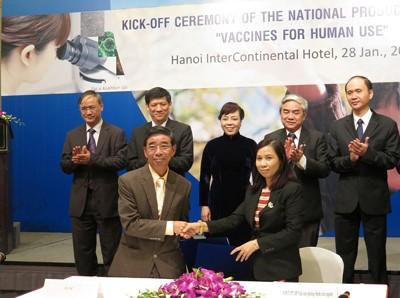 8 đề tài, dự án KHCN sản phẩm quốc gia vaccine phòng bệnh cho người đã được ký hợp đồng triển khai với tổng kinh phí đầu tư khoảng 100 tỷ đồng - Ảnh: VGP
