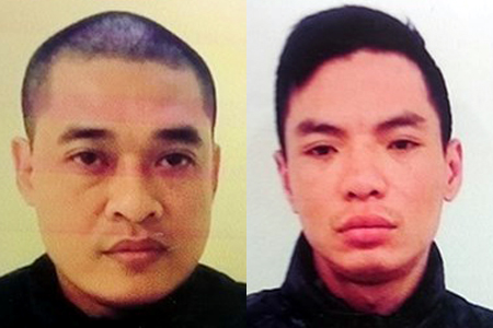 Hai đối tượng Đông và Dương trong vụ án mạng giết người trên phố Trần Đại Nghĩa (Hà Nội)