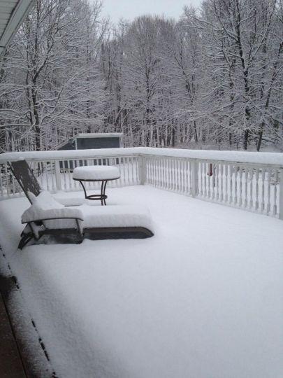 Khu ngắm cảnh ở xứ Ridgefield cũng bị bao phủ trong rừng tuyết ở Fairfield, bang Connecticut. Vào Thứ 7 24 Tháng 1, 2015.