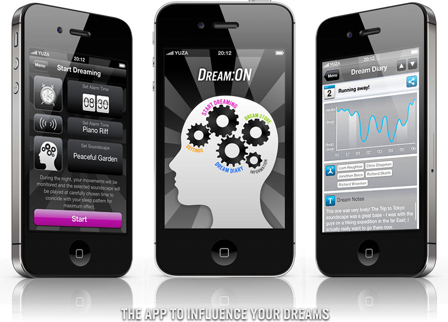 Ứng dụng Dream:ON trên iPhone