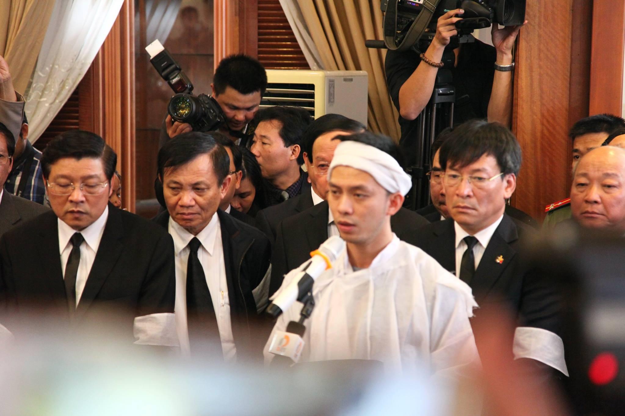 Con trai ông Nguyễn Bá Thanh nói lời cảm tạ trong lễ truy điệu