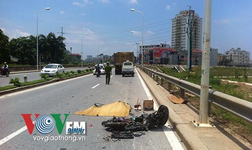Vụ tai nạn giao thông khiến 2 người thương vong còn chiếc xe điện bị vỡ vụn hoàn toàn