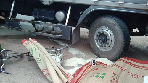 Tài xế lái xe tải đã bỏ trốn sau khi gây tai nạn giao thông chết người