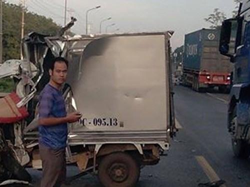 Hiện trường vụ tai nạn giao thông khiến tài xế chết kẹo trong cabin xe hơn 2 giờ ở Đồng Nai