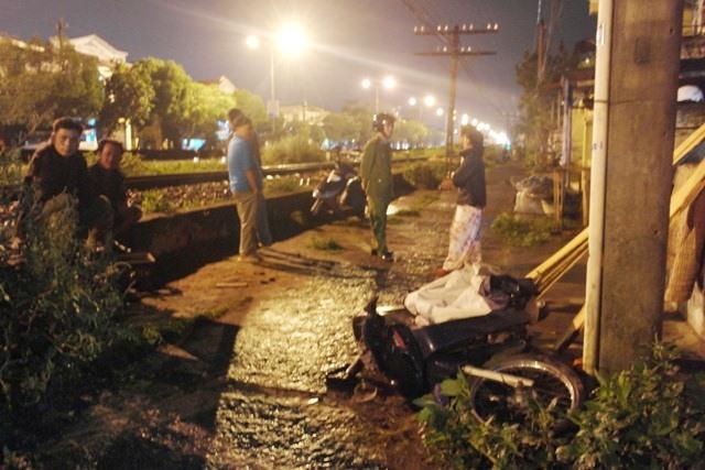 Hiện trường vụ tai nạn giao thông đường sắt ở Huế