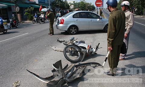 Hiện trường tai nạn giao thông