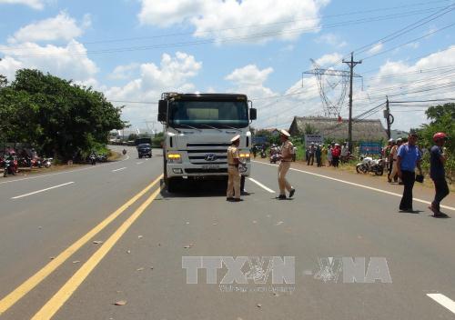Hiện trường vụ tai nạn giao thông khiến một phụ nữ chết thảm ở Bình Phước