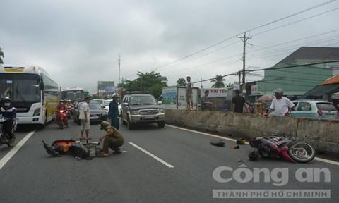 May mắn không có người thiệt mạng trong vụ tai nạn giao thông