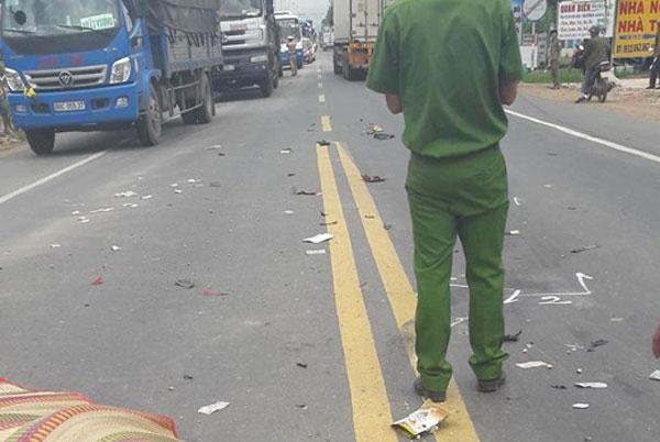 Hiện trường vụ tai nạn giao thông kinh hoàng khiến anh Nguyễn Văn Bình tử vong