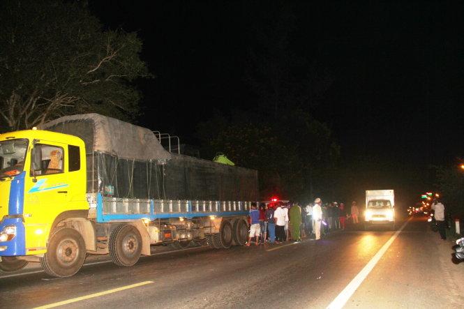 Vụ tai nạn giao thông thương tâm đã gây dồn ứ xe cục bộ trên một đoạn đường