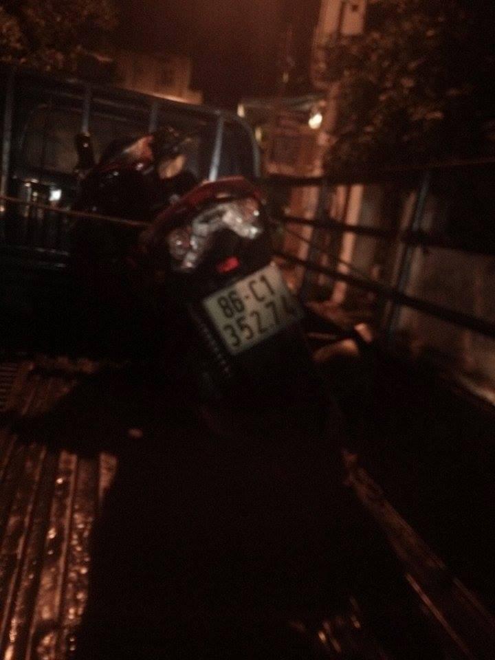 Chiếc xe máy mà chị Trâm điều khiển trong ngày xảy ra tai nạn giao thông