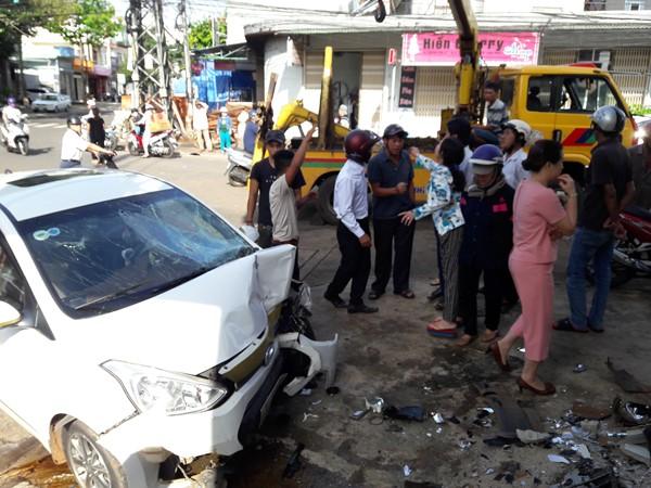 Nguyên nhân vụ tai nạn giao thông đang được Đội CSGT TP.Pleiku làm rõ