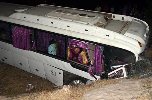 Hiện trường vụ tai nạn giao thông khiến 1 người chết và 24 người bị thương