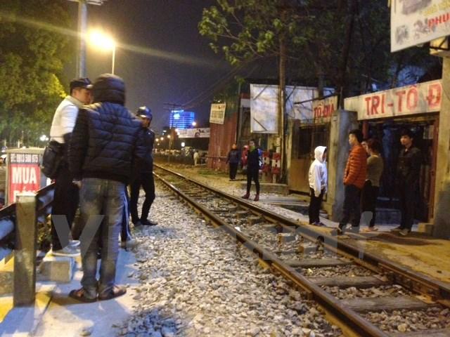 Hiện trường xảy ra vụ tai nạn giao thông đường sắt