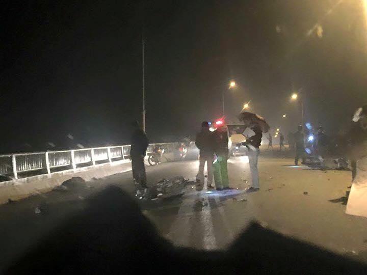 Hiện trường vụ tai nạn giao thông khiến hai cậu cháu ruột tử vong tại chỗ