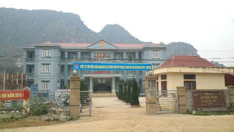Trụ sở xã Định Thành, nơi ông Đỗ Lương Sâm công tác trước khi gặp tai nạn giao thông chết người