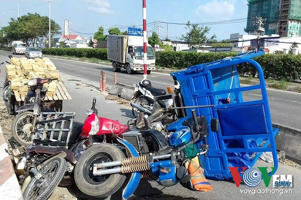 Nguyên nhân ban đầu của vụ tai nạn giao thông liên hoàn được cho là do lái xe ba gác say rượu