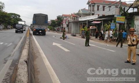 Lực lượng công an nhanh chóng giải quyết vụ tai nạn giao thông