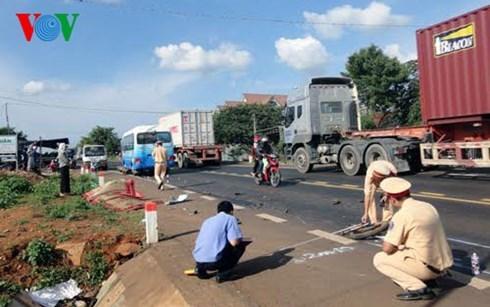Hiện trường một vụ tai nạn giao thông