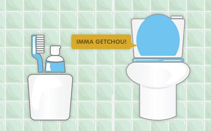 Bàn chải đánh răng để gần bệ vệ sinh là cơ hội tốt để các loại vi khuẩn, vi trùng