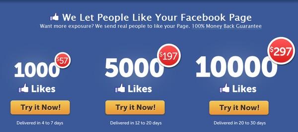 Rầm rộ bán like trên các trang mạng xã hội