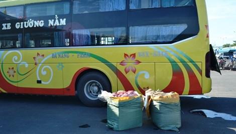 Số nội tạng thối chất đầy xe khách giường nằm bị thu giữ tại Bến xe Trung tâm TP Đà Nẵng