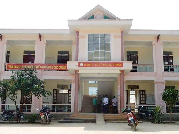 Trạm y tế xã Quang Phong, nơi xảy ra vụ việc trẻ tử vong sau tiêm phòng đang gây xôn xao dư luận